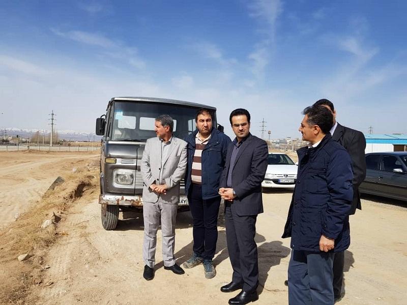 بازدید از روند اجرایی پروژه احداث ضلع غرب به شرق خیابان داخل پادگان ارتش