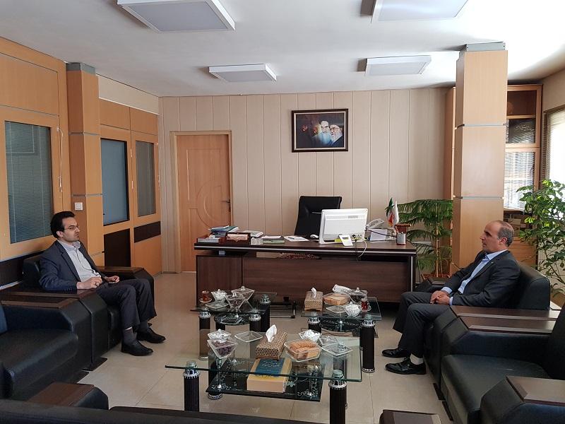دیدار مدیرعامل بانک توسعه تعاون استان زنجان با مدیرکل بنیاد مسکن انقلاب اسلامی استان