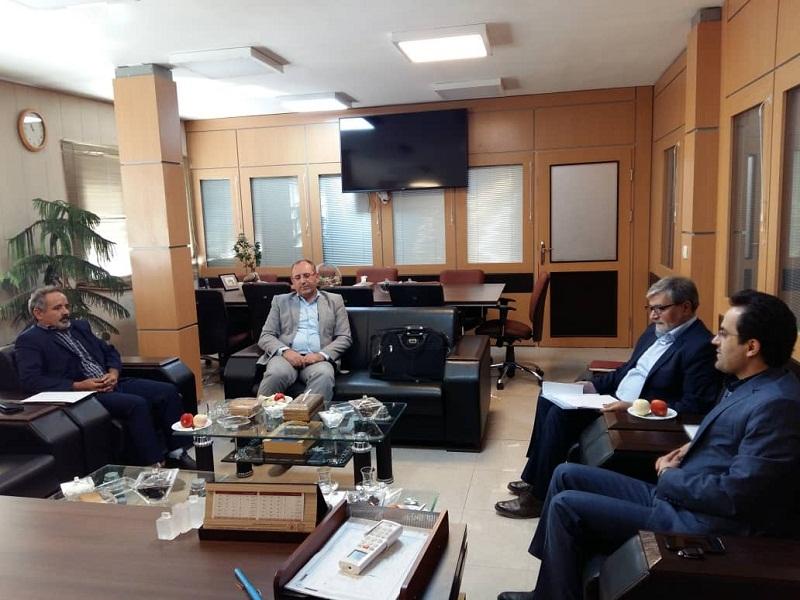 دیدار مدیرکل بنیاد مسکن انقلاب اسلامی استان با مدیر عامل شرکت بنیاد بتن شمالغرب کشور