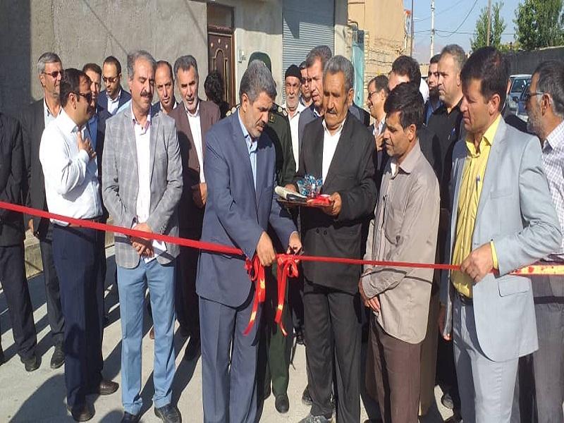 بهره برداری از پروژه های اجرای طرح هادی روستاهای فنوش آباد و قروه شهرستان ابهر از سوی بنیاد مسکن