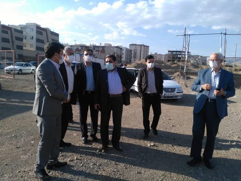 بازدید مهندس تابش رئیس بنیاد مسکن انقلاب اسلامی از روند اجرای پروژه ۳۶۸ واحدی گلشهر زنجان